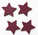 star mauve magnets pack of four